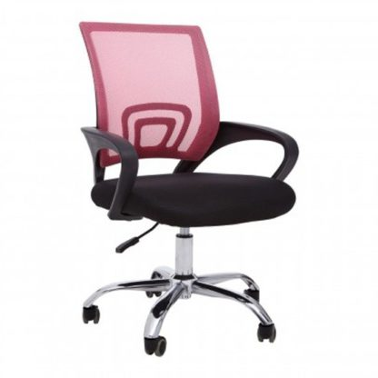 An Image of Velika Home And Office Chair In Pink With Armrest