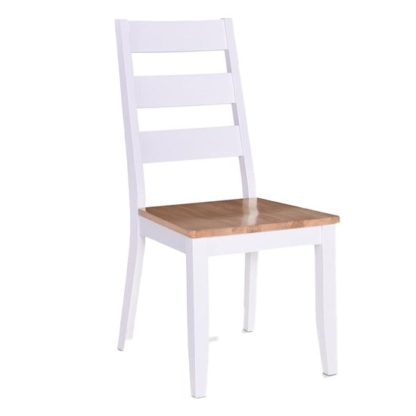 An Image of Rona Wooden Oak Solid Seat Dining Chair In Grey