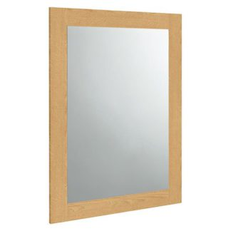 An Image of Wardle Bedroom Wall Mirror In Crafted Solid Oak Frame