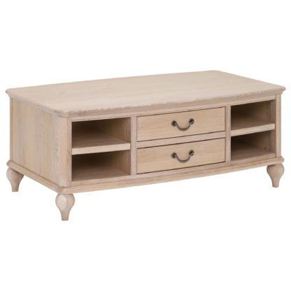 An Image of Charente Coffee Table, Chalk Oak
