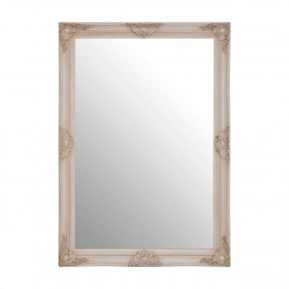An Image of Antonia Wall Bedroom Mirror In Off White Frame