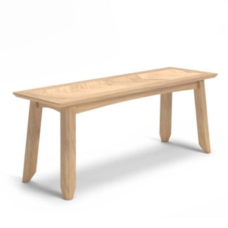 An Image of Carnial Wooden Dining Bench In Blond Solid Oak