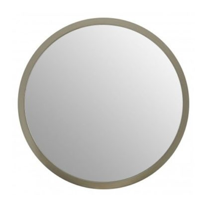 An Image of Athens Small Round Wall Bedroom Mirror In Silver Frame