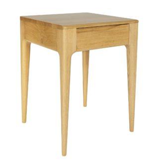 An Image of Ercol Romana 1 Drawer Lamp Table, Oak