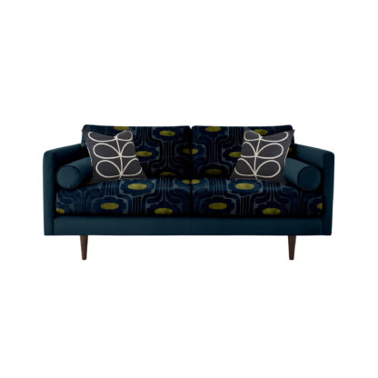 An Image of Orla Kiely Mimosa Medium Sofa, Patterned Velvet