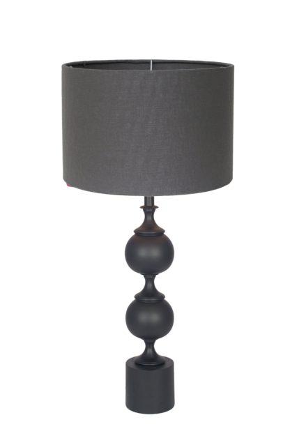 An Image of Harvard Table Lamp - Matt Black Aluminium