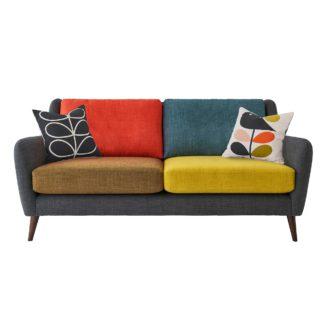 An Image of Orla Kiely Fern Large Sofa, Liffey Multi