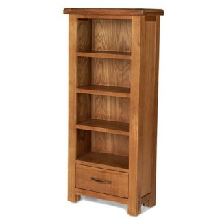 An Image of Earls Wooden DVD Storage Stand In Chunky Solid Oak