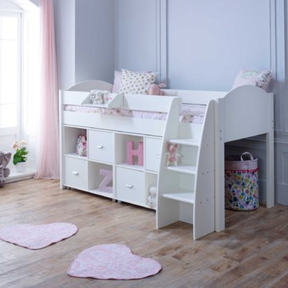 An Image of Eli F Childrens Midsleeper Bed with Storage