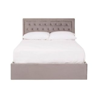 An Image of Edasich Brushed Steel Velet Double Bed