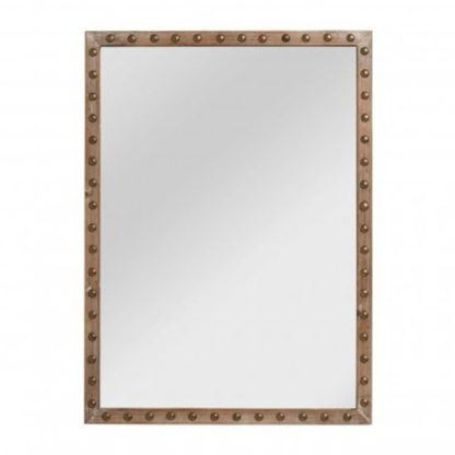 An Image of Tribes Wall Bedroom Mirror In Natural Frame