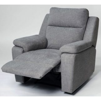 An Image of Jackson Fabric Recliner Armchair In Grey