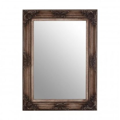An Image of Antoine Wall Bedroom Mirror In Antique Silver Frame