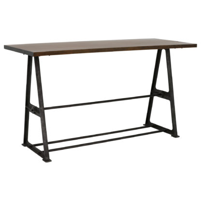 An Image of Bowery Bar Table, Coffee Brown and Rustic Black