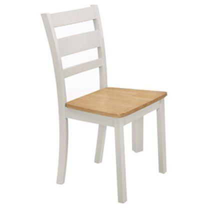 An Image of Robin Wooden Oak Solid Seat Dining Chair In Grey