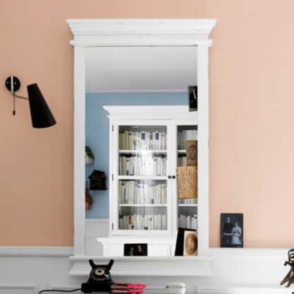 An Image of Allthorp Portrait Bedroom Mirror In Classic White