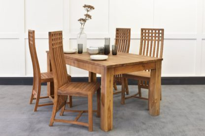 An Image of Lifestyle Dining Table & Stanton Chairs Bundle