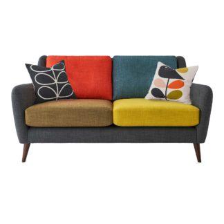 An Image of Orla Kiely Fern Small Sofa, Liffey Multi