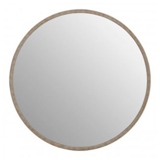 An Image of Siskin Round Wall Bedroom Mirror In Antique Silver Frame