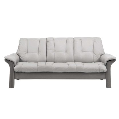 An Image of Stressless Windsor Low Back 3 Seater, Choice of Leather