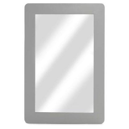An Image of Hematic Wall Bedroom Mirror In Grey Frame