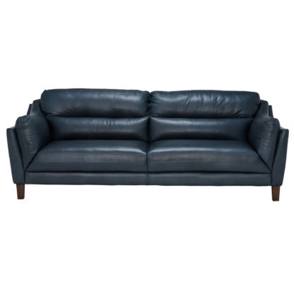 An Image of Luca Leather Sofa, Indiana Teal