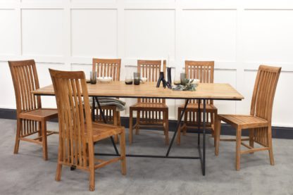 An Image of Belden Dining Table & Madura Chairs Bundle