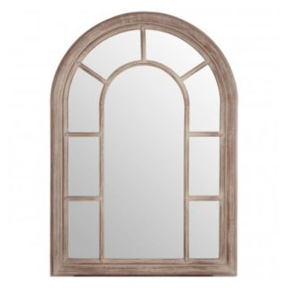 An Image of Sharia Window Design Wall Bedroom Mirror In Chinese Oak Frame