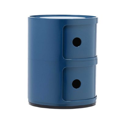 An Image of Kartell Componibili 2 Drawer Storage Unit, Blue
