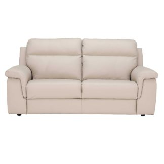 An Image of Fulton 3 Seater Leather Sofa