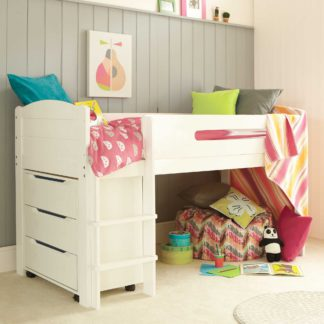 An Image of Kenzie Childrens Midsleeper with Chest Of Drawers