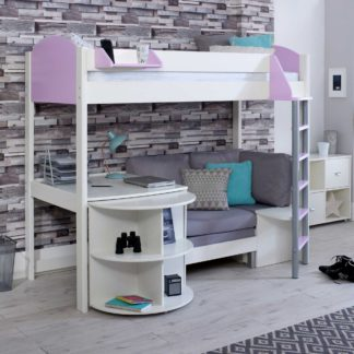 An Image of Nova D Childrens Highsleeper Bed with pull out Desk and Futon