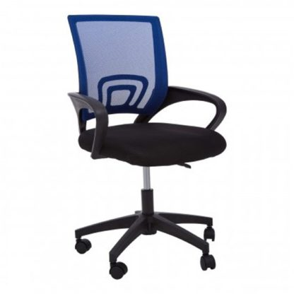 An Image of Velika Home And Office Chair In Blue With Armrest