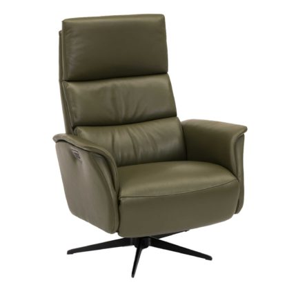 An Image of Vern Large Electric Recliner Chair, Hunter Green