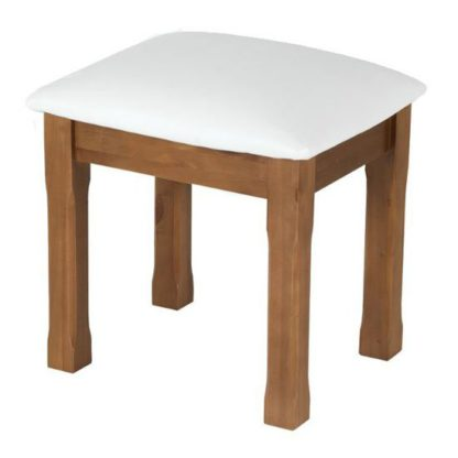 An Image of Herndon Wooden Dressing Table Stool In Lacquered
