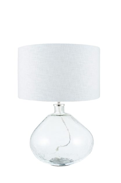 An Image of Benson Table Lamp - Wide Clear Glass