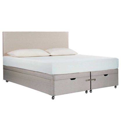 An Image of Tempur Ardennes Ottoman Bed Base, Steel