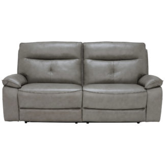 An Image of Aria 3 Seater Electric Recliner Sofa, Leather
