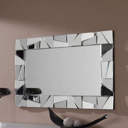 An Image of Sartino Designer Rectangular Wall Mirror