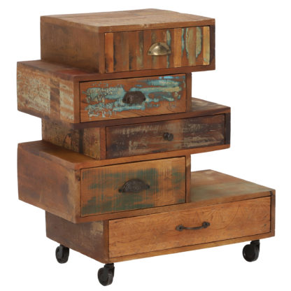 An Image of Little Tree Furniture Shimla 5 Drawer Multi Chest