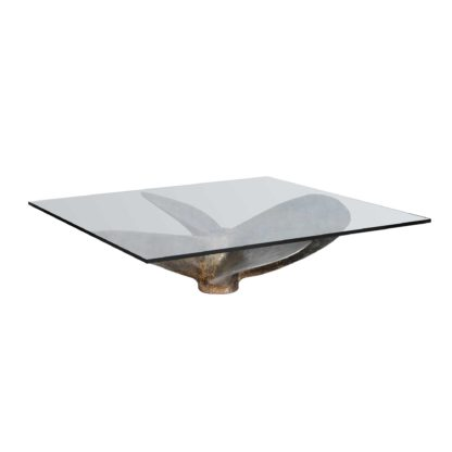 An Image of Timothy Oulton 110cm Junk Art Propeller Square Coffee Table, Vintage Steel