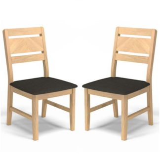 An Image of Carnial Grey Fabric Upholstered Dining Chairs In A Pair