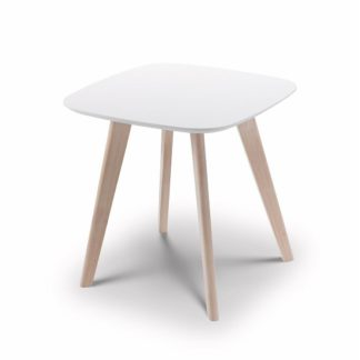 An Image of Bramley Lamp Table Square In White And Limed Oak
