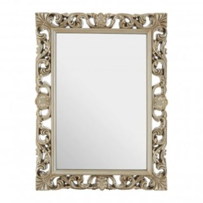 An Image of Sutu Garland Design Wall Bedroom Mirror In Luxurious Gold Frame