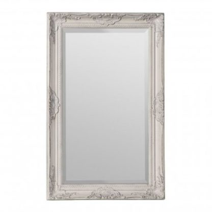 An Image of Rustin Classical Design Wall Bedroom Mirror In Cream Frame