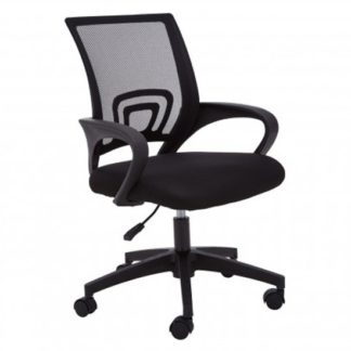 An Image of Velika Home And Office Chair In Black With Armrest