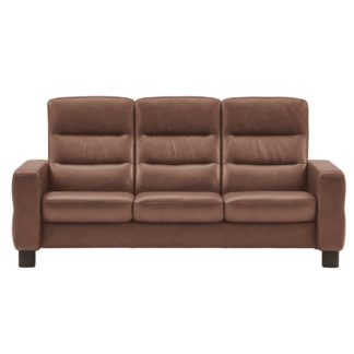 An Image of Stressless Wave High Back 3 Seater Sofa, Leather