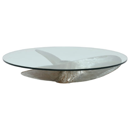 An Image of Timothy Oulton 110cm Junk Art Propeller Round Coffee Table