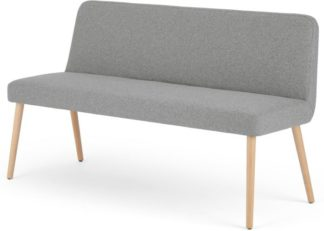 An Image of MADE Essentials Adams Dining Bench, Mountain Grey