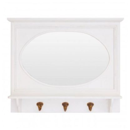 An Image of Whitely Wall Bedroom Mirror In Cool White Frame